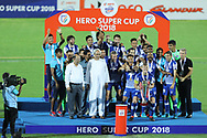 Bengaluru FC players recevied champion 2018 award during the final of the Hero Super Cup between East Bengal FC and Bengaluru FC held at the Kalinga Stadium, Bhubaneswar, India on the 20th April 2018<br /> <br /> Photo by: Arjun Singh / SPORTZPICS