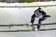 Gregor Schlierenzauer of Austria competes while qualification during FIS World Cup Ski Jumping competition in Zakopane, Poland on January 17, 2014.<br /> <br /> Poland, Zakopane, January 17, 2014.<br /> <br /> Picture also available in RAW (NEF) or TIFF format on special request.<br /> <br /> For editorial use only. Any commercial or promotional use requires permission.<br /> <br /> Mandatory credit:<br /> Photo by &copy; Adam Nurkiewicz / Mediasport