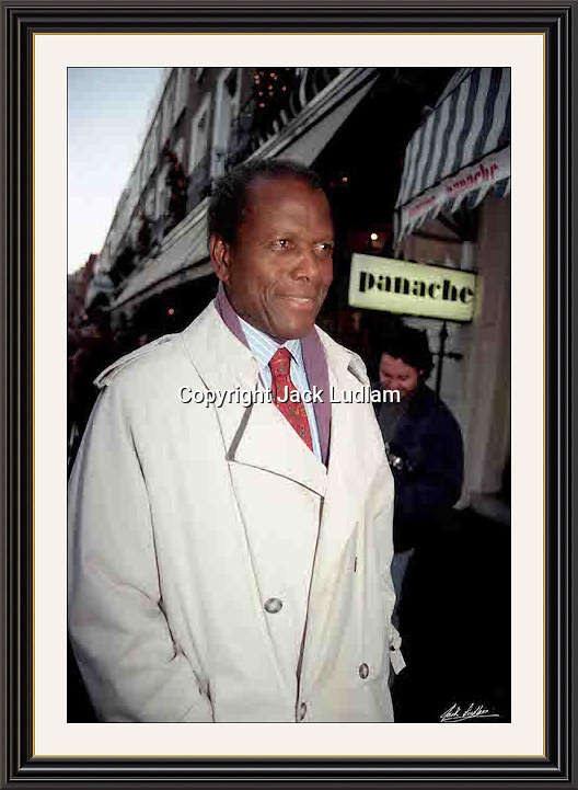 Sidney Poitier (Panache) Beauchamp Place London 7 Dec 1996<br />