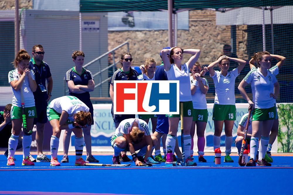 RIO 2016 Olympic qualification, Hockey, Women, quarterfinal, Ireland vs China : team Ireland disappointed