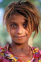 Inde. Rajasthan. Region de Jalor. Femme Rajpute. // India. Rajasthan. Jalor area. Rajpute woman.