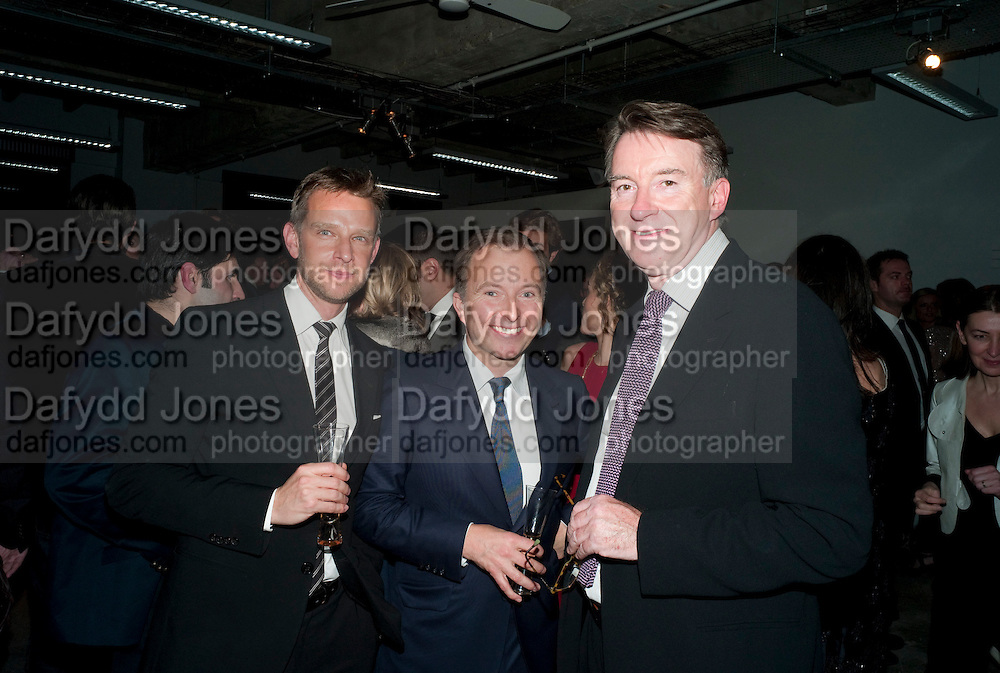 GORD RAY; TONY CHAMBERS; LORD MANDELSON, Wallpaper  Design Awards in partner ship with aSton Martin. The Edison, 223-231 Old Marylebone Road, London. 12 January 2011. . This year it is in partnership with Aston Martin.-DO NOT ARCHIVE-© Copyright Photograph by Dafydd Jones. 248 Clapham Rd. London SW9 0PZ. Tel 0207 820 0771. www.dafjones.com.