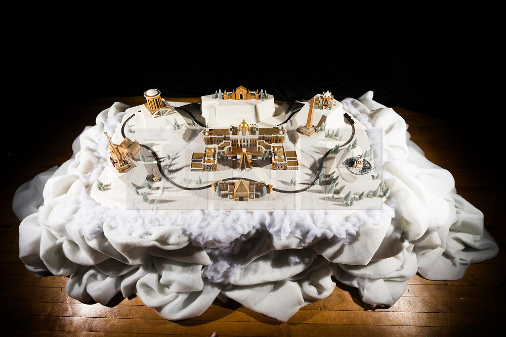 © Licensed to London News Pictures. 16/11/2017. Castle Howard UK. A huge Gingerbread replica of Castle Howard created by architectural food designers, Bompas & Parr has been unveiled at Castle Howard as part of the estates Christmas season. Photo credit: Andrew McCaren/LNP