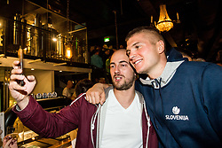 Edo Muric of Slovenia at Fans' reception of Team Slovenia after the basketball match between National Teams of Slovenia and Greece at Day 4 of the FIBA EuroBasket 2017  in Teerenpeli bar, Helsinki, Finland on September 3, 2017. Photo by Vid Ponikvar / Sportida