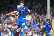 Joe Bunney is challenged during the EFL Sky Bet League 1 match between Rochdale and Sunderland at Spotland, Rochdale, England on 6 April 2019.