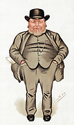 Joseph Arch (1826-1919) English Trade Unionist, politician and agricultural worker. Founder of National Union of Farm Labourers. Cartoon by 'Spy' (Leslie Ward) from 'Vanity Fair' London 1886, when he became Liberal Member of Parliament for North West Norfolk