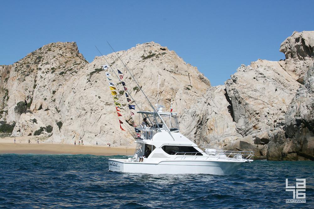 Sport fishing boat Super Natural in Cabo San Lucas, Baja California Sur, Mexico.