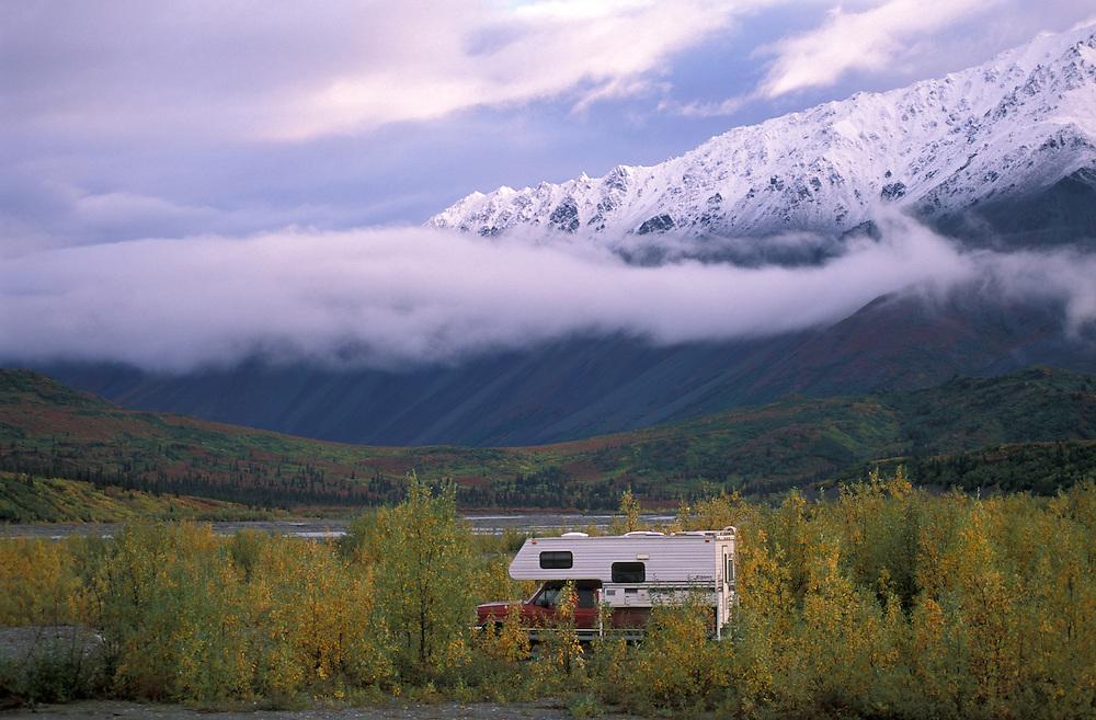 Camping along Richardson Highway, Alaska, USA