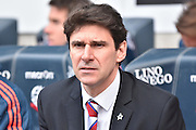 Middlesbrough Head Coach, Aitor Karanka  during the Sky Bet Championship match between Bolton Wanderers and Middlesbrough at the Macron Stadium, Bolton, England on 16 April 2016. Photo by Mark Pollitt.