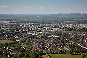 Aerial view of Cheltenham Spa Town centre from Leckhampton Hill