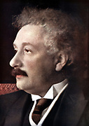 Albert Einstein (1879-1955) German-Swiss-American mathematician and physicist. Tinted photograph c1925