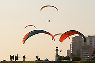 Paragliding is a sport very much in vogue on the seafront in Miraflores