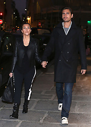 Reality star Kourtney Kardashian and husband Scott Disick spotted shopping on the luxury Rue Saint-Honore and in Saint-Germain-des-Pres district in Paris on November 13, 2012. Photo by ABACAPRESS.COM  | 342029_004