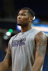 January 19, 2011; Sacramento, CA, USA;  Sacramento Kings power forward DeMarcus Cousins (15) warms up before the game against the Portland Trail Blazers at the ARCO Arena. Portland defeated Sacramento 94-90 in overtime.