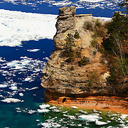 """Miner's Castle in Spring""<br />