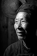 Kaili, Guizhou, China, August 10th 2007: Portrait of a 72 year old Miao man..Photo: Joseph Feil