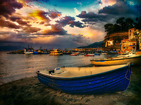 """The boat of Saints Giacomo and Giovanni rests in the evening sun - Marina Grande Sorrento""…<br />