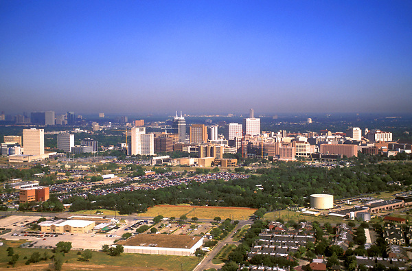 Stock photo of an aerial view of the Texas Medical Center.