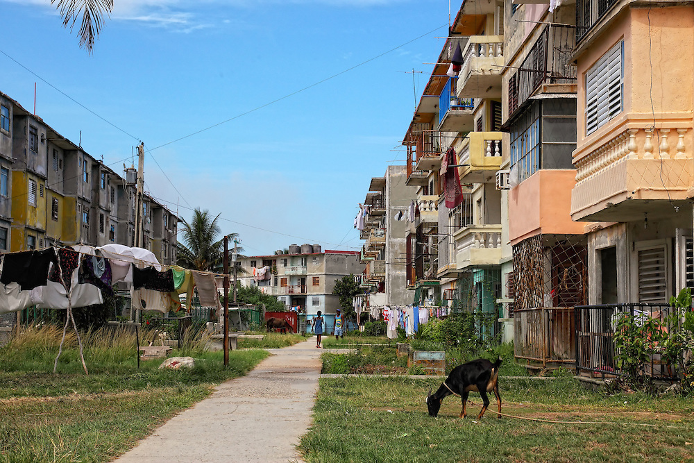 Apartment buildings in Santa Cruz del Norte, Mayabeque, Cuba.