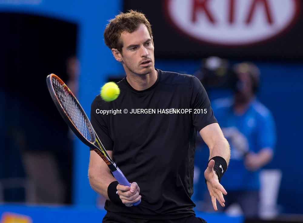 Andy Murray (GBR)<br /> <br /> Tennis - Australian Open 2015 - Grand Slam ATP / WTA -  Melbourne Olympic Park - Melbourne - Victoria - Australia  - 1 February 2015.