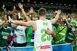 Alen Omic of Slovenia celebrates after winning during basketball match between Slovenia and Macedonia at Day 6 in Group C of FIBA Europe Eurobasket 2015, on September 10, 2015, in Arena Zagreb, Croatia. Photo by Vid Ponikvar / Sportida ###THIS IMAGE IS JUST FOR USE IN SLOVENIA!!! ###