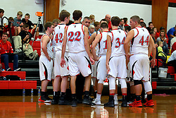 21 November 2017: IHSA Boys Basketball game between the Warrensburg Latham Cardinals  and the Heyworth Hornets at Heyworth Illinois
