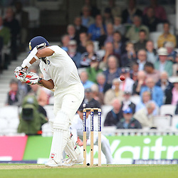 India's Stuart Binny lets one go during the first day of the Investec 5th Test match between England and India at the Kia Oval, London, 15th August 2014 © Phil Duncan | SportPix.org.uk