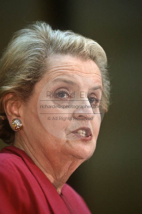 US Secretary of State Madeleine Albright during an event February 14, 1997 In Washington, DC.