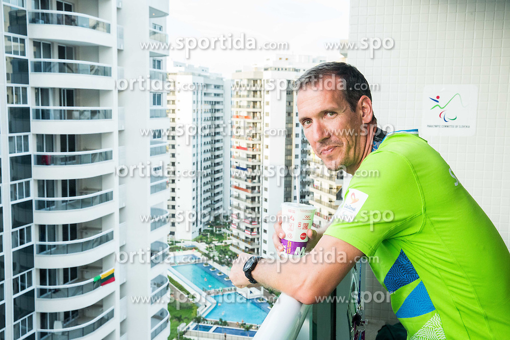 Alen Kramar of Slovenia in the Paralympic Village 3 days ahead of the Rio 2016 Summer Paralympics Games on September 4, 2016 in Rio de Janeiro, Brazil. Photo by Vid Ponikvar / Sportida