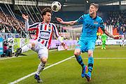 TILBURG - 19-02-2017, Willem II - AZ, Koning Willem II Stadion, Willem II speler Thom Haye, AZ speler Wout Weghorst