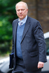 © Licensed to London News Pictures. 03/06/2014. LONDON, UK. Justice Secretary, Chris Grayling attending to a cabinet meeting in Downing Street on Tuesday, 3 June 2014. Photo credit: Tolga Akmen/LNP