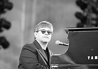 Elton John as he appeared at Croke Park with Billy Joel, 27/05/1998 (Part of the Independent Newspapers Ireland /NLI Collection).