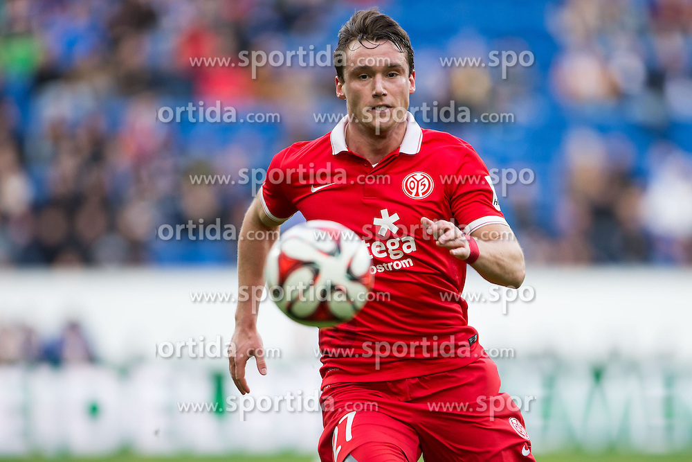 28.02.2015, Rhein Neckar Arena, Sinsheim, GER, 1. FBL, TSG 1899 Hoffenheim vs 1. FSV Mainz 05, 23. Runde, im Bild Christian Clemens (FSV Mainz 05), Freisteller, Aktion /Action // during the German Bundesliga 23rd round match between TSG 1899 Hoffenheim and 1. FSV Mainz 05 at the Rhein Neckar Arena in Sinsheim, Germany on 2015/02/28. EXPA Pictures &copy; 2015, PhotoCredit: EXPA/ Eibner-Pressefoto/ Neis<br /> <br /> *****ATTENTION - OUT of GER*****