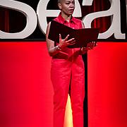 Tall Order TEDx Seattle 2018. Anastacia-Renee (poet). Photo by Alabastro Photography.