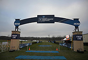General overall view of the finish line at the Thomas Zimmer Championship Cross Country Course in Madison, Wis., Saturday, Nov. 17, 2018. (Kirby Lee via AP)