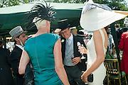 BRIGITTE NIELSON; ISABEL KRISTENSEN, Royal Ascot. Tuesday. 14 June 2011. <br /> <br />  , -DO NOT ARCHIVE-© Copyright Photograph by Dafydd Jones. 248 Clapham Rd. London SW9 0PZ. Tel 0207 820 0771. www.dafjones.com.
