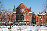 Music Hall and Washington Park in the snow