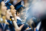 The undergraduate class of 2016 graduates in the Spokane Arena on May 8th, 2016. (Photo by Austin Ilg)