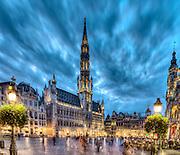Brussels - November 2nd, 2010 <br /> The Grand Place at dusk <br /> Credit Paul Marnef / ISOPIX     **** REFERENCE : 00030516 ****<br /> Photo, Foto : ISOPIX (BELGIË, BELGIQUE - Brussel, Bruxelles)