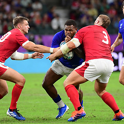 Viri VAKATAWA of France on the charge during the Rugby World Cup 2019 Quarter Final match between Wales and France on October 20, 2019 in Oita, Japan. (Photo by Dave Winter/Icon Sport) - Oita Stadium - Oita (Japon)
