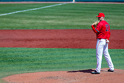 NORMAL, IL - April 08: Rhett Rapshus during a college baseball game between the ISU Redbirds  and the Missouri State Bears on April 08 2019 at Duffy Bass Field in Normal, IL. (Photo by Alan Look)