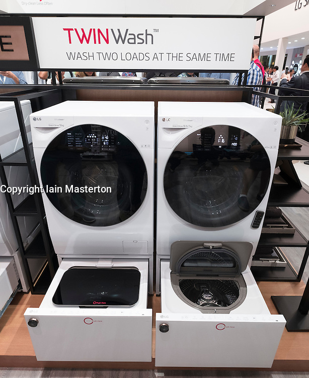 LG Twinwash washing machine with twin drums for simultaneous washing and drying at 2016  IFA (Internationale Funkausstellung Berlin), Berlin, Germany
