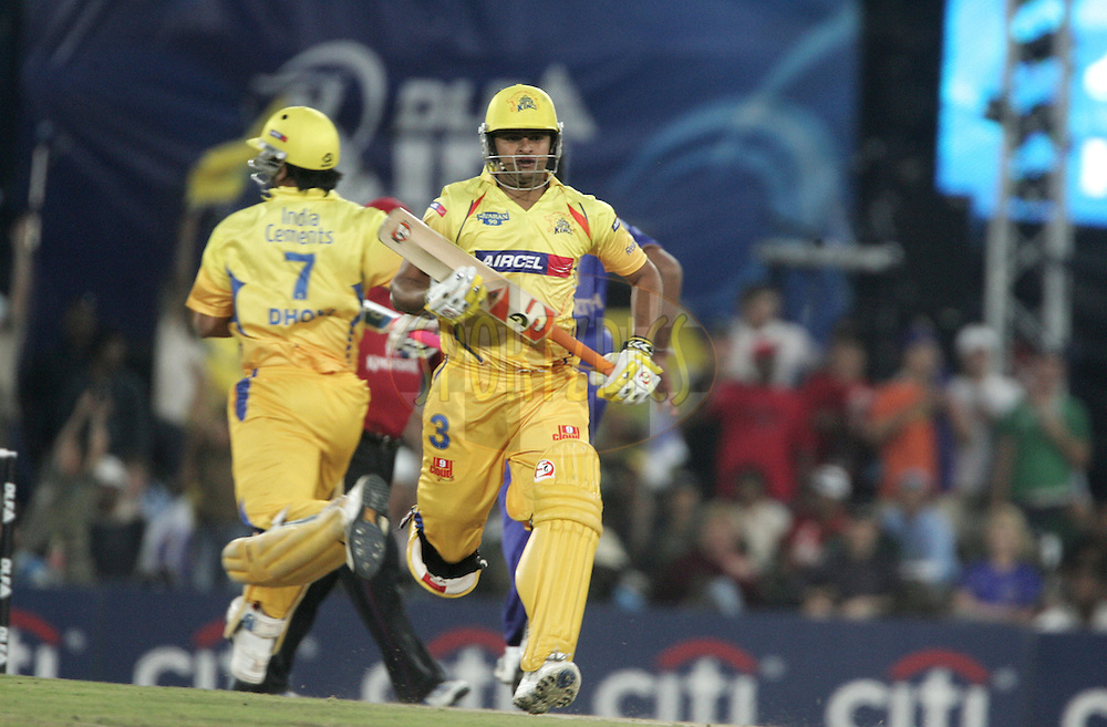 CENTURION, SOUTH AFRICA - 30 April 2009.  during the  IPL Season 2 match between the Rajasthan Royals and the Chennai Superkings held at  in Centurion, South Africa. Suresh Raina.