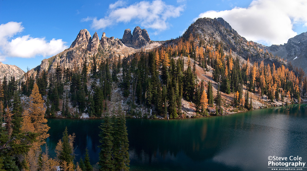 Blue Lake in Fall - Wenatchee National Forest