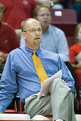 26 Aug 2005<br /> <br /> Illini Head Coach Don Hardin.<br /> <br /> The Illini beat the Redbirds in the seasons opener for both team in 5 games 30-24, 30-19, 23-30, 30-21, 15-11.  Redbird Areana, Illinios State University, Normal, IL