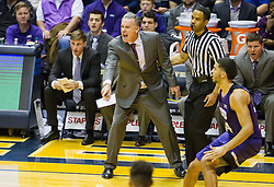 Jan 7, 2017; Morgantown, WV, USA; TCU Horned Frogs head coach Jamie Dixon calls out a play from the bench during the first half against the West Virginia Mountaineers at WVU Coliseum. Mandatory Credit: Ben Queen-USA TODAY Sports