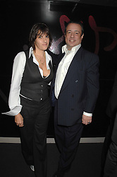 TRACEY EMIN and HAMISH McALPINE at a party hosted by Kitts nightclub in honour of Ed Godrich to than him for his work on designing the club in Sloane Square, London on 1st March 2007.<br />