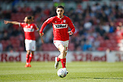 Middlesbrough midfielder Muhamed Besic (37)  during the EFL Sky Bet Championship match between Middlesbrough and Stoke City at the Riverside Stadium, Middlesbrough, England on 19 April 2019.