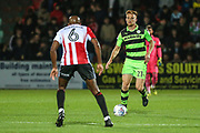 Forest Green Rovers Mark Roberts(21) on the ball during the EFL Trophy match between Cheltenham Town and Forest Green Rovers at Whaddon Road, Cheltenham, England on 3 October 2017. Photo by Shane Healey.