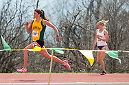 UVM's Brittany St. Clair competes in the 800 meter run during the first day of the America East Track and Field Championship at the Frank H. Livak Track and Field Facility on Saturday May 3, 2014 in Burlington, Vermont. (BRIAN JENKINS, for the Free Press)